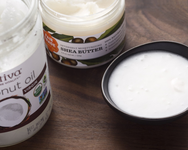 Ingredients shea butter and coconut oil