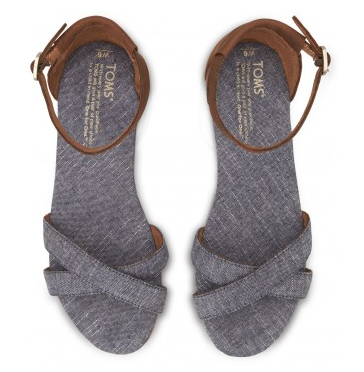 8cd1beb975a Toms Shoes Black Chambray Sandals Top View · Blue Chambray Women s Correa  Sandals · Toms Shoes Black Playa Sandals Top View