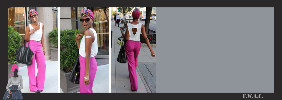 LOOKBOOK: Pink Trousers for Isaac Mizrahi x Band-Aid Launch Event