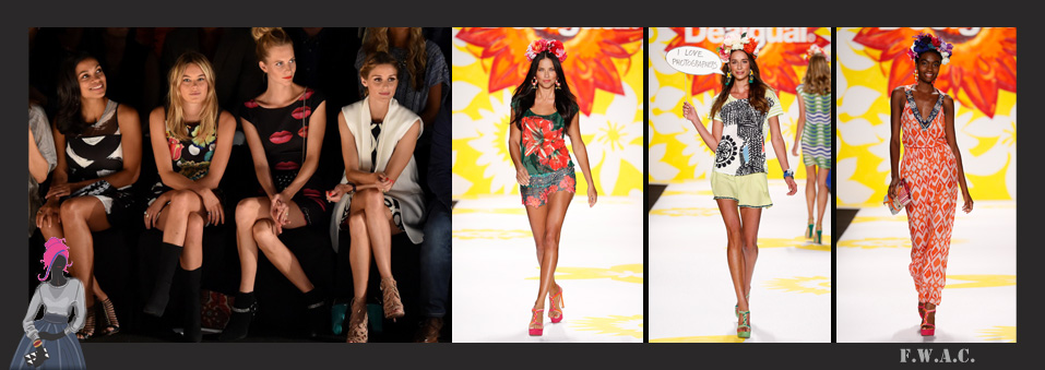STYLE STRUCK: Desigual & Adriana Lima Spice Things Up At New York Fashion Week